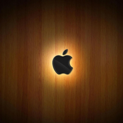 apple logo wallpaper ipad. Apple logo Wood iPad Wallpaper