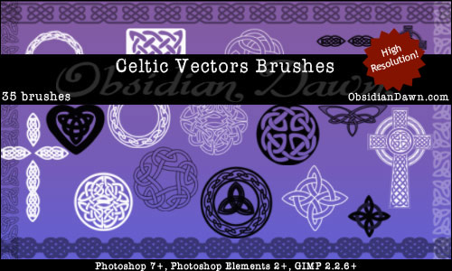 Celtic Knotwork Vector Brushes