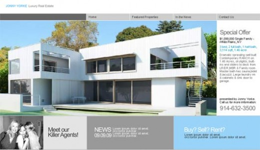 Real Estate Free Templates. aerosky real estate html responsive ...