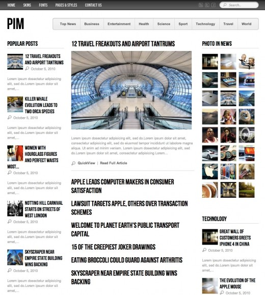 Blogger Newspaper Template Leoncapers