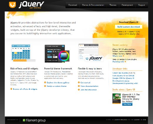 Css frameworks easy ways to keep your website in style tutorialchip the jquery ui css framework malvernweather Choice Image