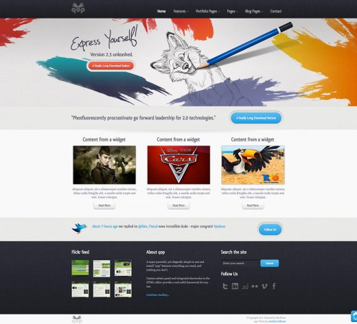 A showcase of premium website templates tutorialchip 3 qop xhtml css premium template pronofoot35fo Choice Image