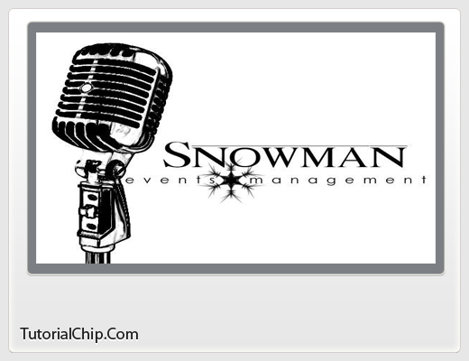 events management. Snowman Event Management Logo
