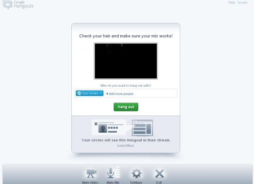 Google Hangout Meeting Invite with good invitations layout