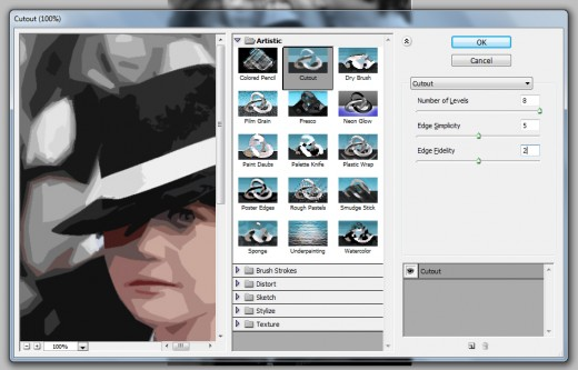 how to select a cut out image in photoshop