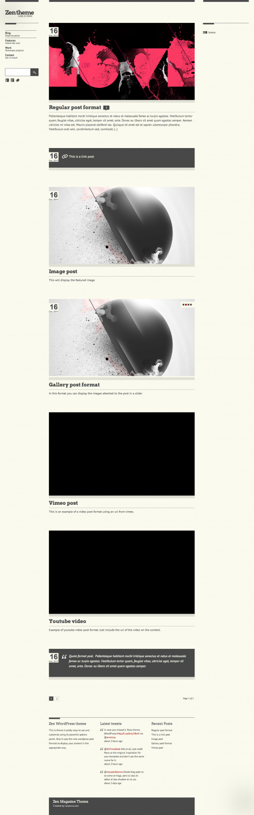 Zen Magazine Style Wordpress Premium Theme Tutorialchip