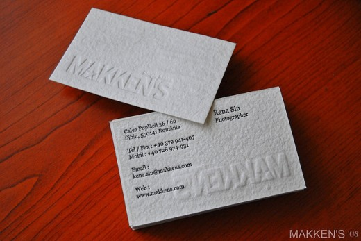 25 best embossed business cards ideas with classy look and feel makkens embossed business card reheart Gallery