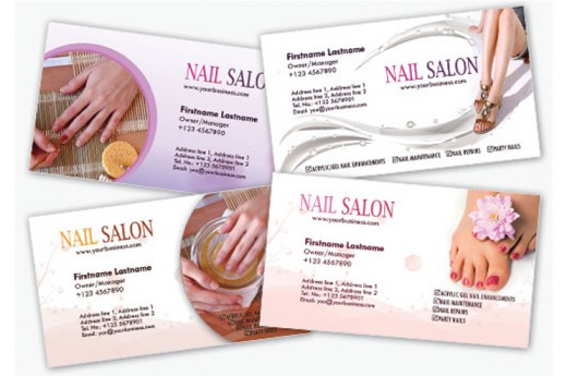 4 More Salon Business Cards Photoshop Templates