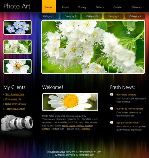 20 useful html5 web design templates to free download for Free html portfolio templates