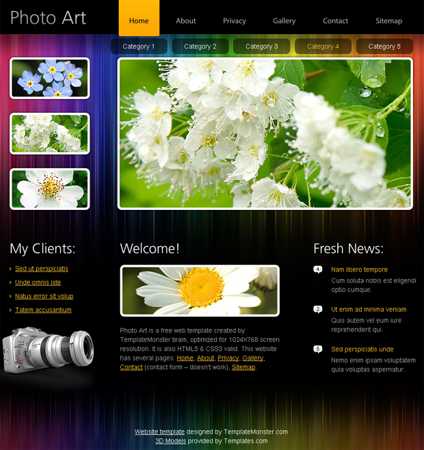 20 Useful HTML5 Web Design Templates To Free Download - TutorialChip