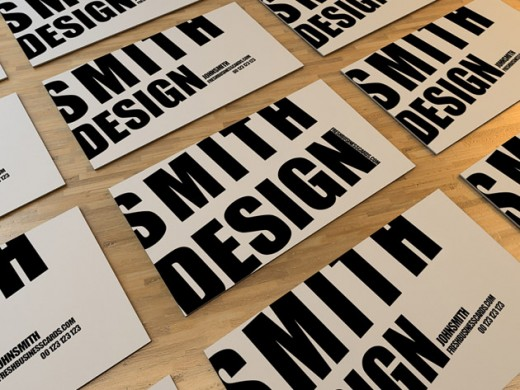 Typography Business Card