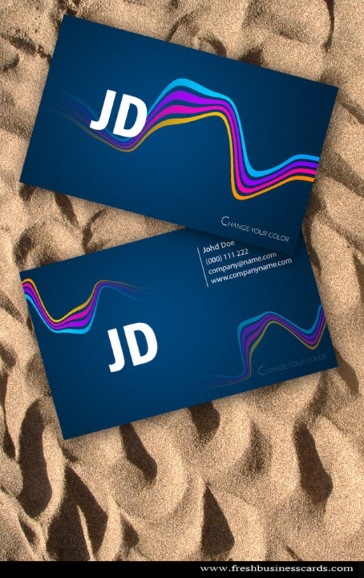 Wavy Business Card