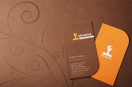 20 creative die cut business card designs tutorialchip best orange and brown die cut business card reheart Image collections