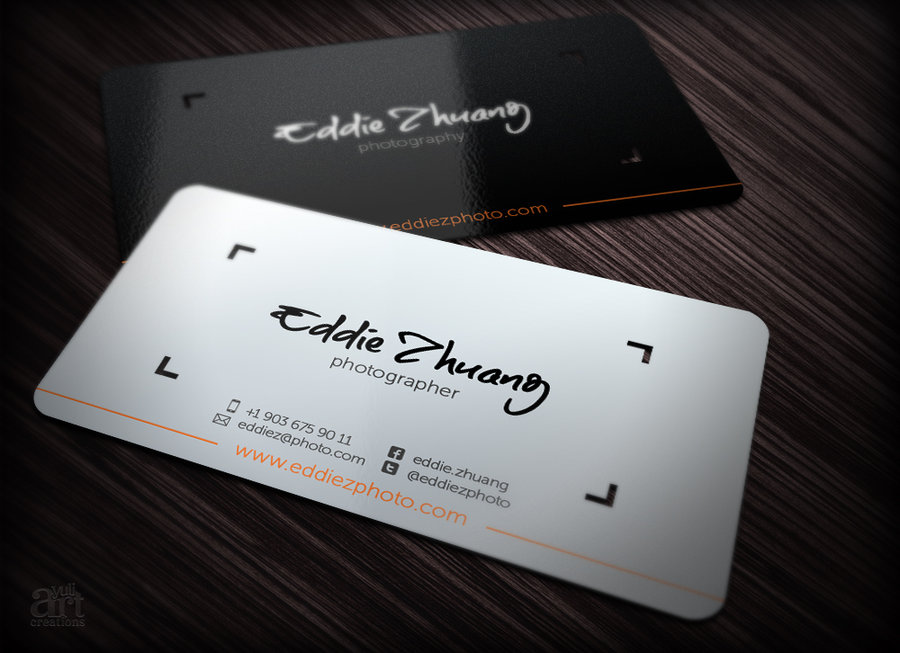 Famous Photographer Business Card | Best Business Cards