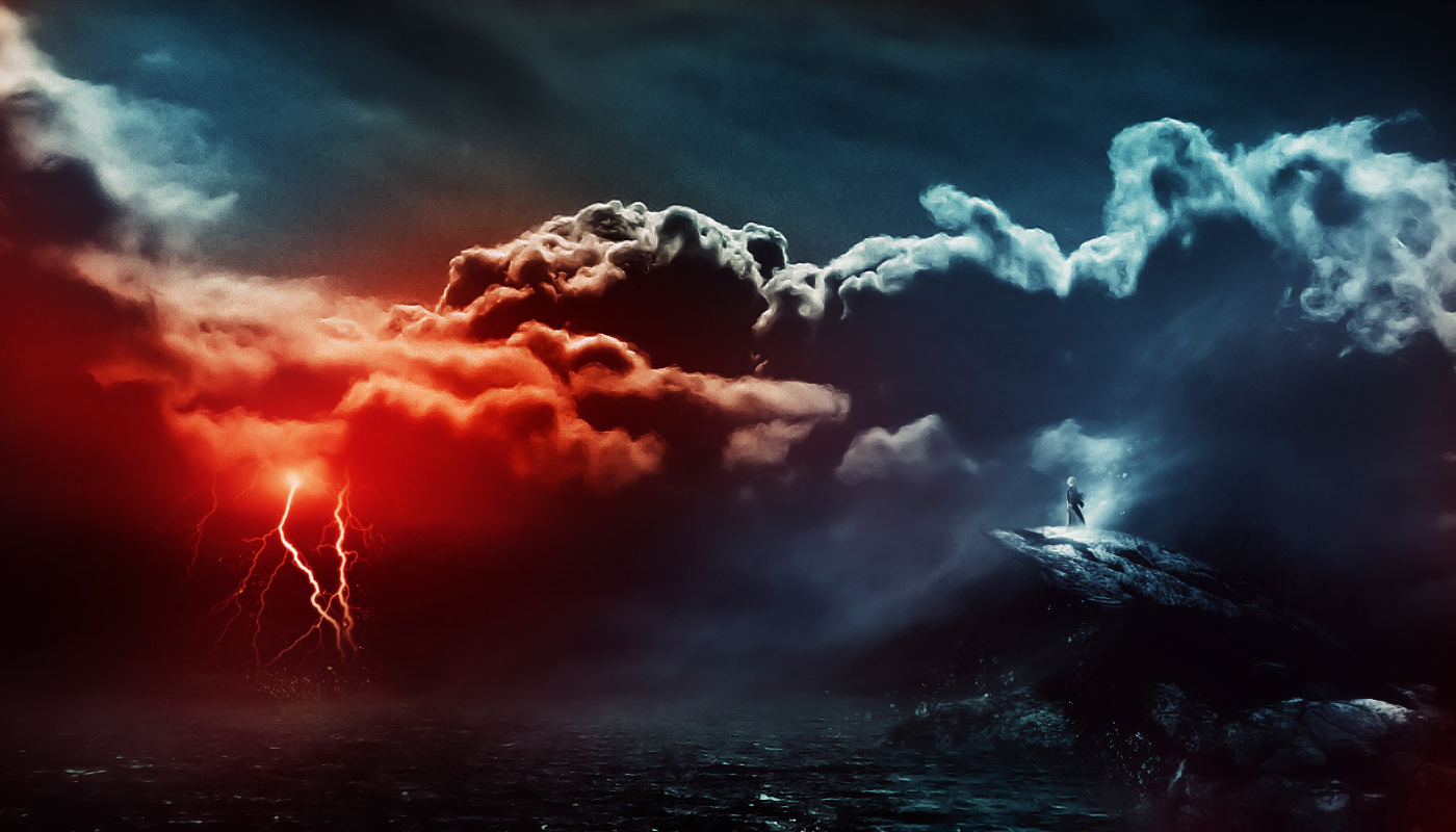 15 cool photo editing tutorials for photoshop tutorialchip the creation of the storm is approaching artwork baditri Choice Image