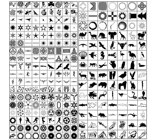 1300+ Adobe Photoshop Custom Shapes for Download - TutorialChip