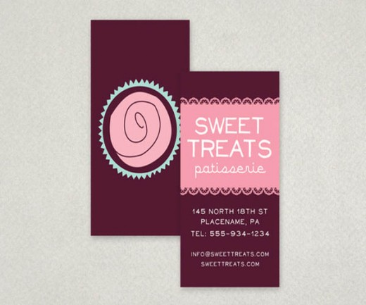 20 unusual bakery business card designs for inspiration tutorialchip elegant cupcake bakery business card reheart Gallery