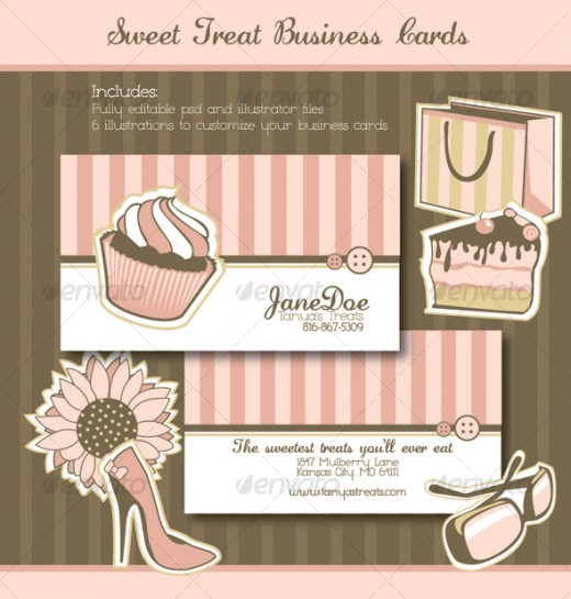 Pops bakery business cards bakery cupcake business card diseo unusual bakery business card designs for inspiration cake business card template cheaphphosting Images