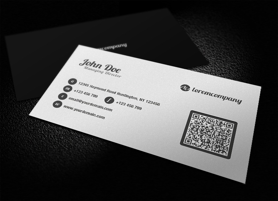 Amazing how to create qr codes for business cards gallery business perfect create qr code business card illustration business card colourmoves