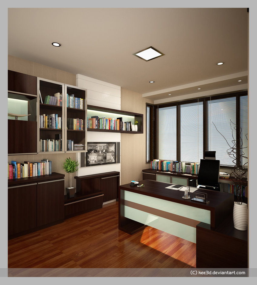 Study Room Color Ideas: Conceptual Study Room Interior Design Pictures