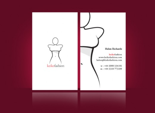 keiko fashion business card