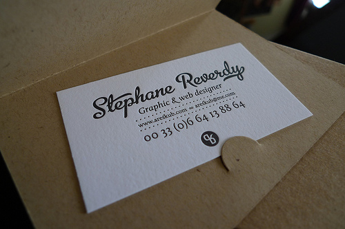25 inspiring letterpress business cards examples tutorialchip letterpress business card reheart Gallery