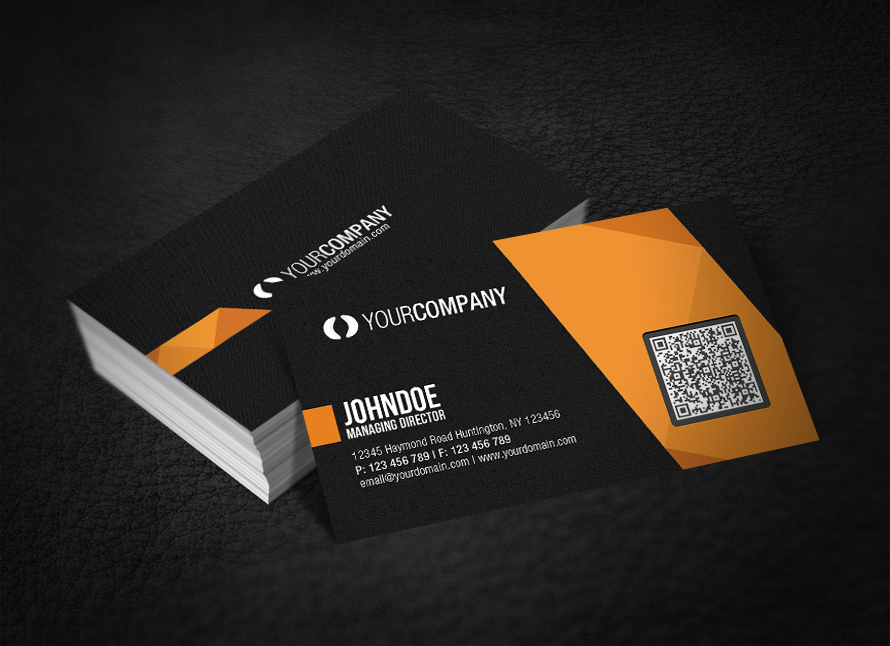 Make A Business Card With Qr Code Images - Card Design And Card Template