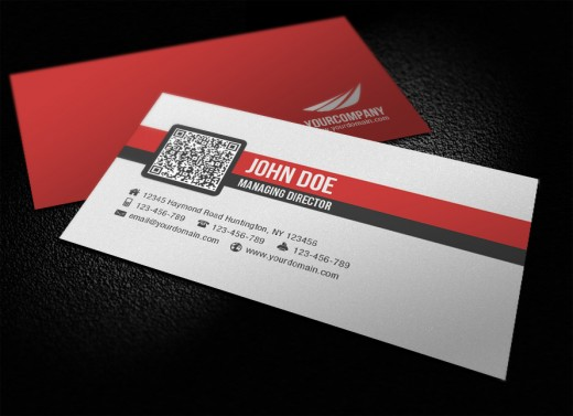 Amazing examples of qr code business card designs tutorialchip simple corporate qr code business card reheart Image collections