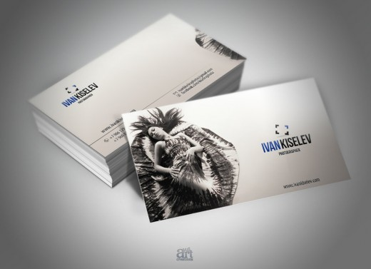 Cool White Business Card