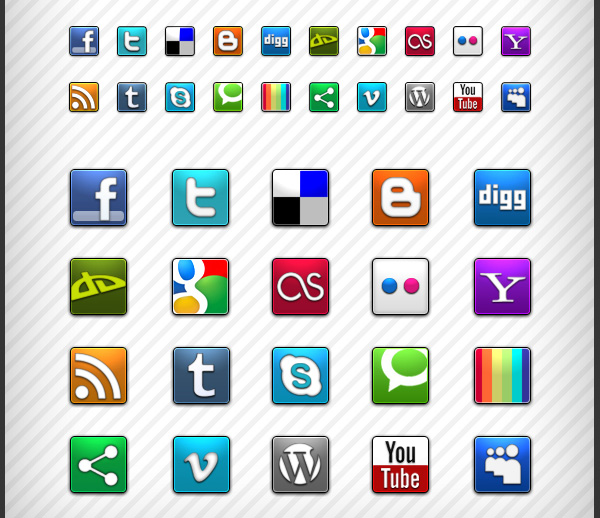 Social Icons For Web Design