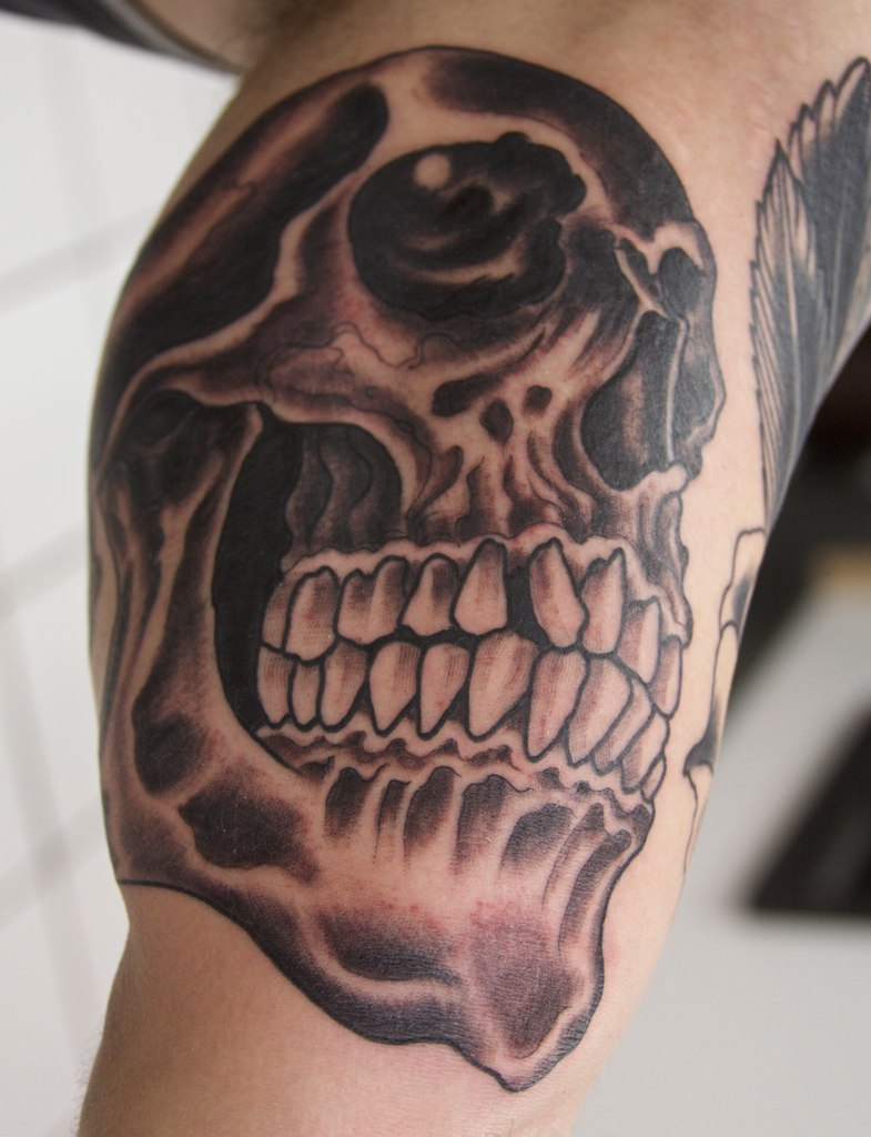 103 Best Black and Grey Tattoos in 2020 – Cool and Unique ...   Black And Grey Skull Tattoo Designs