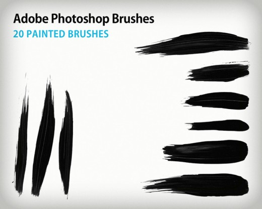 Free paint stroke brushes for photoshop tutorialchip