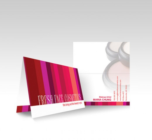 20 vibrant examples of folded business cards tutorialchip vistaprint folded business card avon colourmoves