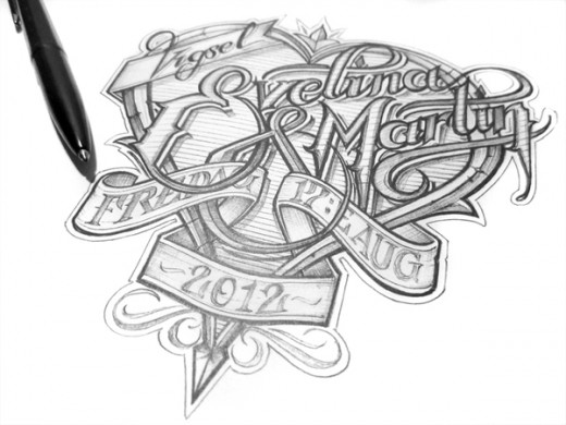 hand lettering example