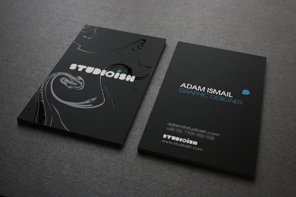 27 Coolest Black Business Cards for Inspiration - TutorialChip