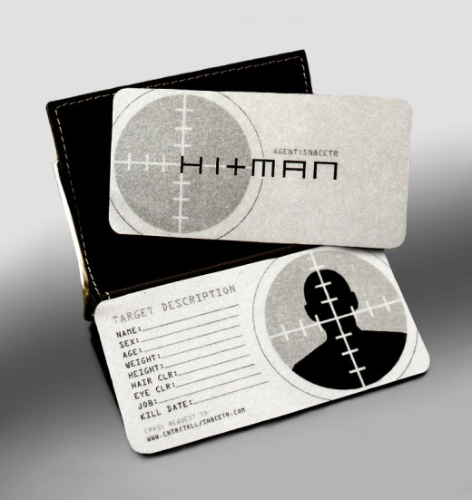 35 unusual business cards tutorialchip hitmans business card reheart Image collections