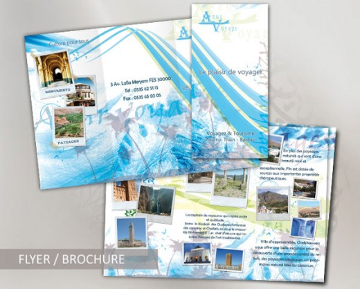 20 gorgeous travel brochures examples tutorialchip for Travel guide brochure template
