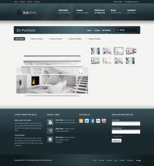 Modern Website Template. modern shoppe a ecommerce flat bootstrap ...