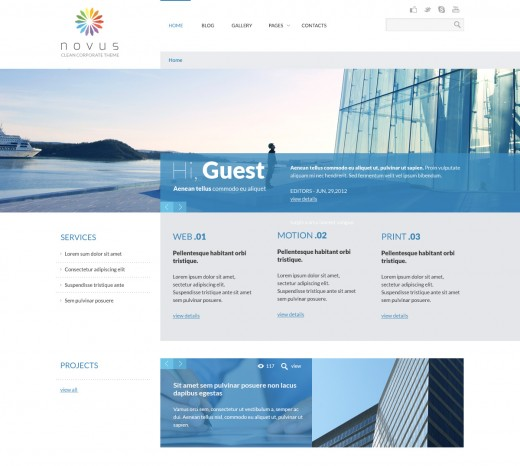 A new wordpress themes edition of october 2012 tutorialchip novus multipurpose corporate wordpress theme maxwellsz