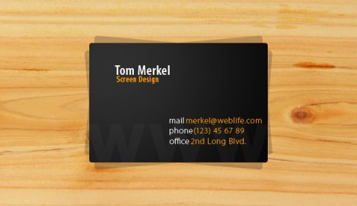 Tom Merkel Business Cards