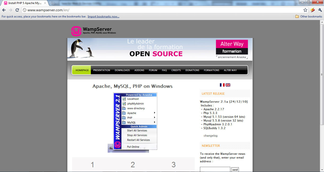 How to Install Apache, PHP, MySql and phpMyAdmin on Windows