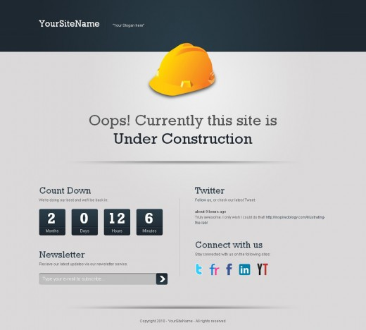 21 Clean Under Construction Coming Soon Templates Tutorialchip