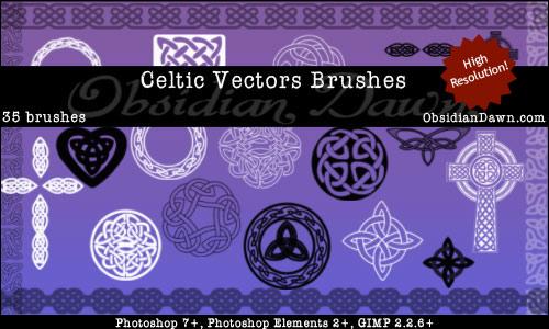 Celtic Knotwork Vector Brushes