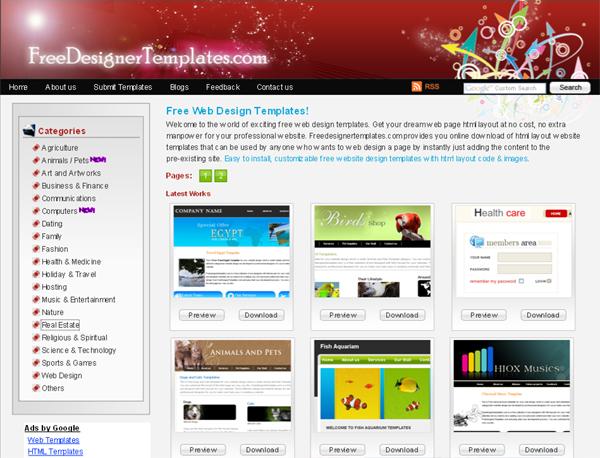 Free Designer Templates Tutorialchip