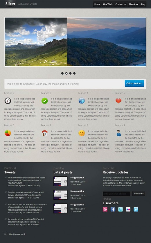 9 Slicer Featured Product Service Template