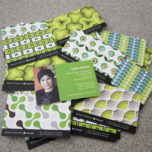 Inspiring green business cards design 30 great options tutorialchip moo business card design colourmoves