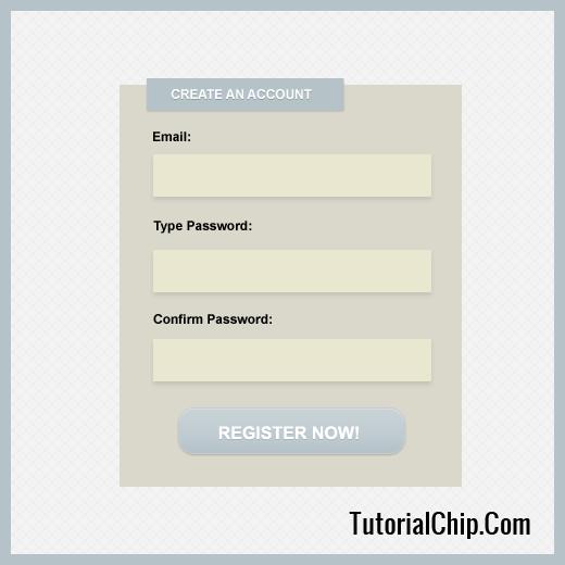 simple registration form psd tutorialchip