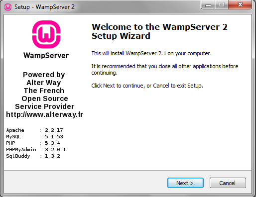 Free download wamp server 5 for windows 7.