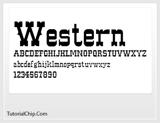 22 Most Wanted Beautiful Free Western Fonts - TutorialChip