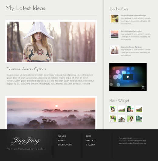 15 Premium Photography WordPress Themes First Half 2011 Edition